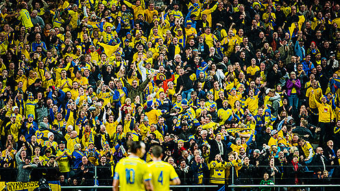Publikbild Friends Arean VM-playoff Sverige-Portugal 2013