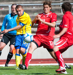 Pivkovski captaining Sweden U17